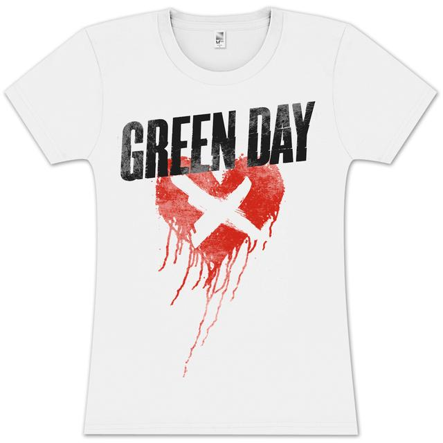 Green Day Cross My Heart Ladies T-Shirt