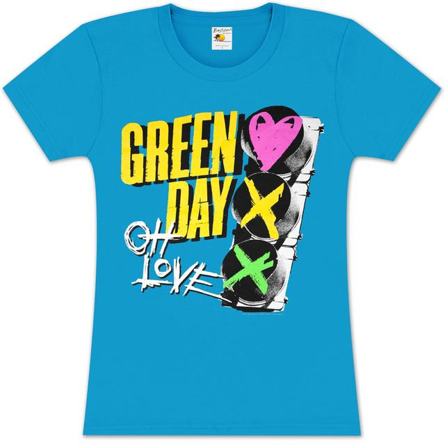 Green Day Red Light Love Girlie T-Shirt