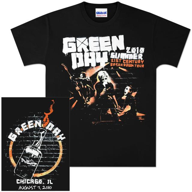 Green Day Summer 2010 Chicago Event T-Shirt – 08/07/10