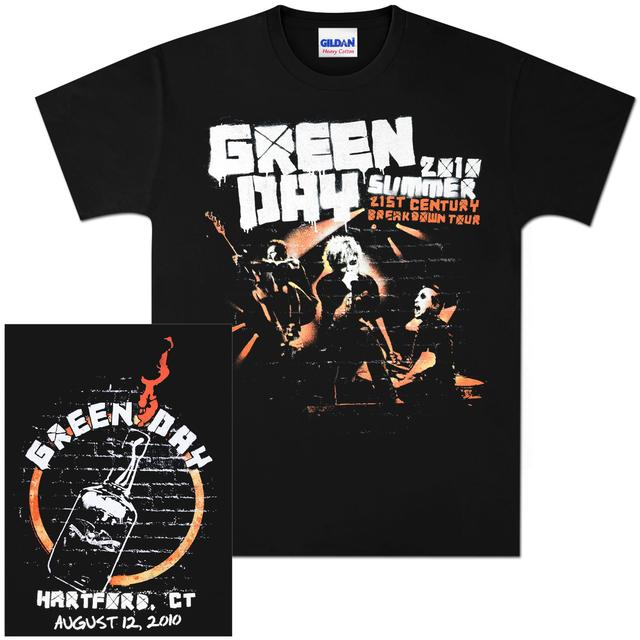 Green Day Summer 2010 Hartford Event T-Shirt - 08/12/10