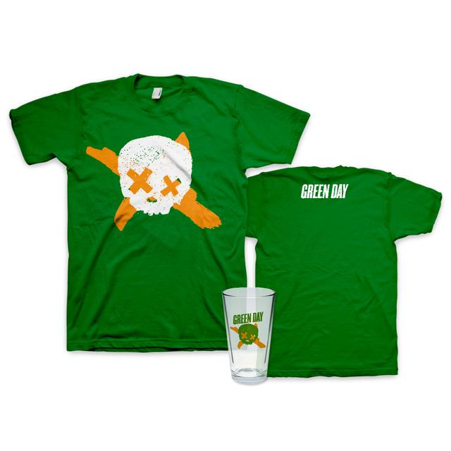 Green Day St. Paddy's Day T-Shirt + Pint Glass Bundle