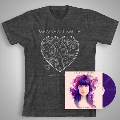 Meaghan Smith Have A Heart (Special Edition Purple Vinyl with Bonus CD) + Heather Charcoal T-Shirt