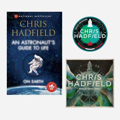 Chris Hadfield CD, Book & Patch Bundle