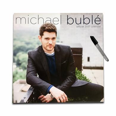 Michael Buble Official 2017 Calendar + Michael Bublé Marker