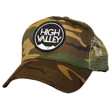 High Valley Logo Camo Trucker Hat