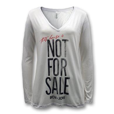 Bon Jovi Not For Sale Longsleeve V-Neck - Women's
