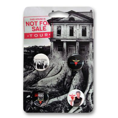 Bon Jovi This House Is Not For Sale Button Pack