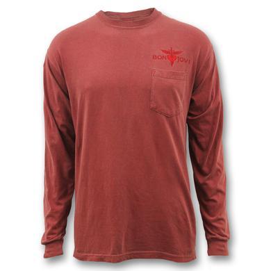Bon Jovi Embroidered Heart & Dagger Longsleeve Shirt