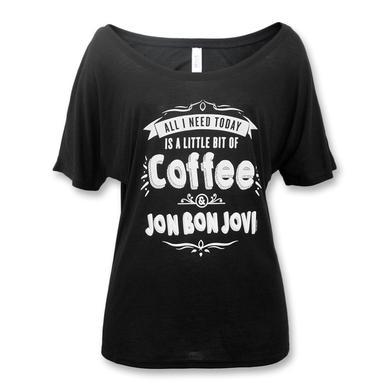 Bon Jovi Coffee Slouchy T-shirt - Women's