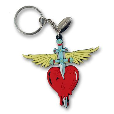 Bon Jovi 2017 Heart & Dagger Rubber Keychain
