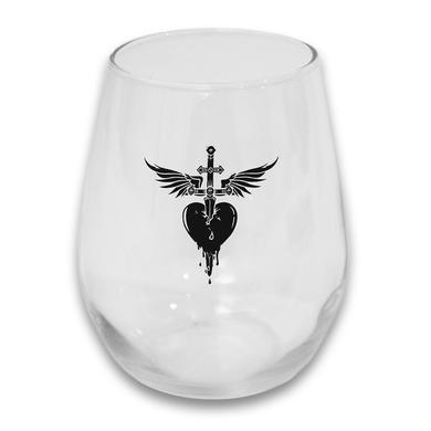 Bon Jovi Heart & Dagger Stemless Glass