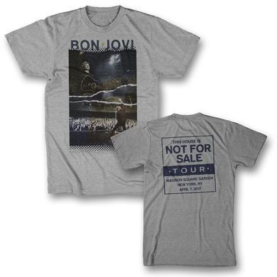 Bon Jovi Torn Photo T-Shirt - New York, NY 4/7/17