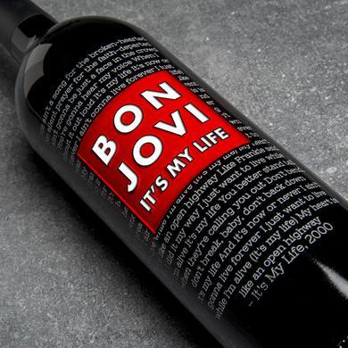 IT'S MY LIFE - BEST OF BON JOVI ETCHED WINE