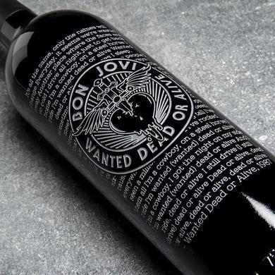 DEAD OR ALIVE - BEST OF BON JOVI ETCHED WINE