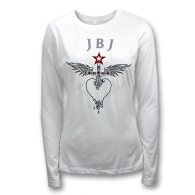 Bon Jovi Rhinestone Heart & Dagger T-Shirt - Women's