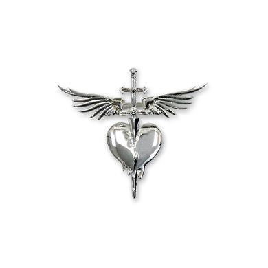 Bon Jovi Sterling Silver Plated Heart & Dagger Brooch