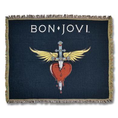 Bon Jovi Heart & Dagger Woven Blanket