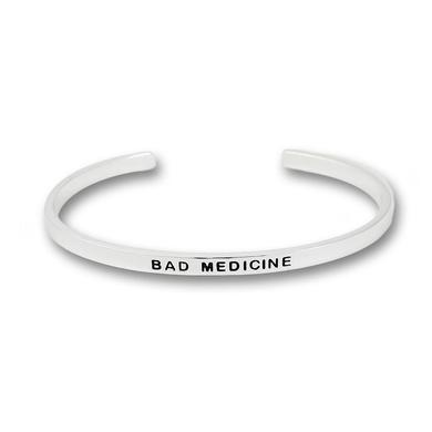 Bon Jovi Bad Medicine Silver Plated Bangle