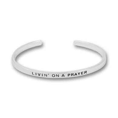 Bon Jovi Livin' On a Prayer Silver Plated Bangle