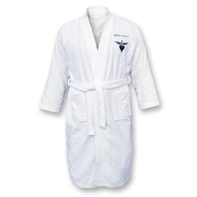 Bon Jovi Embroidered Logo Terrycloth Bath Robe