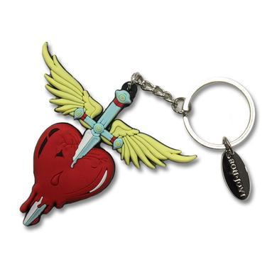Bon Jovi Heart & Dagger Rubber Keychain