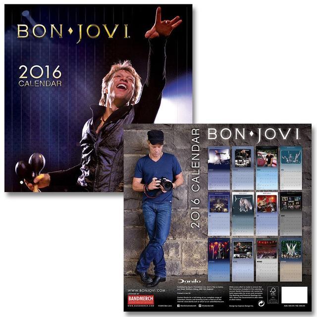 Bon Jovi 2016 Calendar