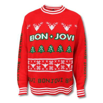 Bon Jovi Knitted Holiday Sweater