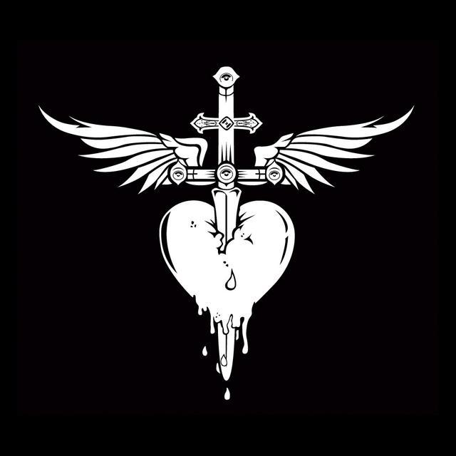 bon jovi heart amp dagger decal sticker