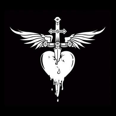 Bon Jovi Heart & Dagger Decal Sticker