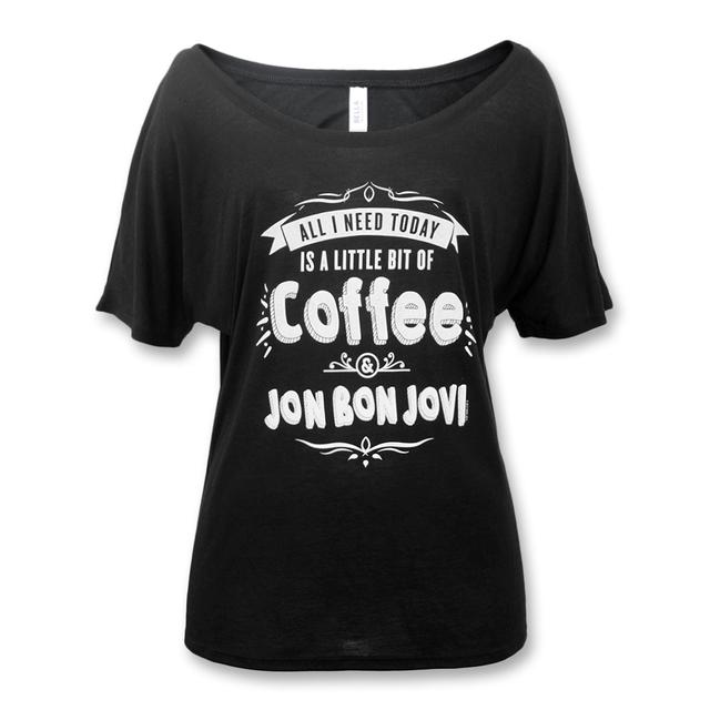 Bon Jovi Coffee Slouchy T-shirt - Women's