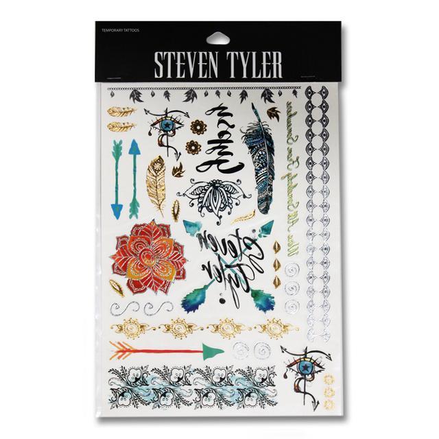 Steven Tyler Temp Tattoo Set
