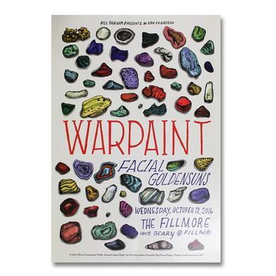 Warpaint Fillmore Show Poster 10/12/2016