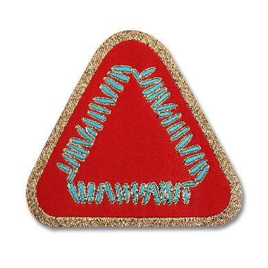 Warpaint Triangle Logo Woven Patch - Red