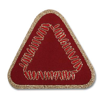 Warpaint Triangle Logo Woven Patch - Maroon