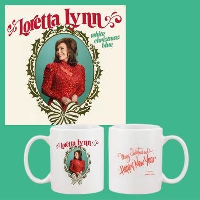 Loretta Lynn White Christmas Blue Mug Bundle (CD or LP)