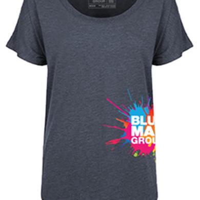 Blue Man Group Ladies Side Print Logo Dolmen T-Shirt