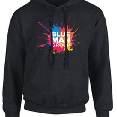 Blue Man Group Paint Splattered Pullover Hoodie