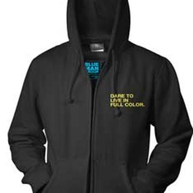Blue Man Group Dare To Live Zip Hoodie