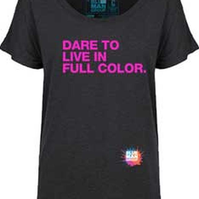 Blue Man Group Dare To Live Ladies Dolman T-Shirt