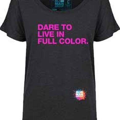 Blue Man Group Dare To Live Ladies Dolman T-Shirt