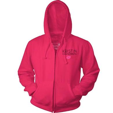 Gentlemans Guide Kristin Chenoweth Pink Zip Hoodie