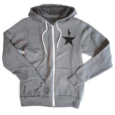 Hamilton Grey Zip-Up Hoodie