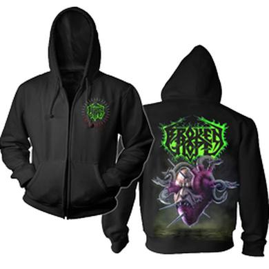 Broken Hope Loathing Black Zip Hoodie