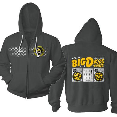 Big D And the Kids Table Checkered Turntable Zip Hoodie
