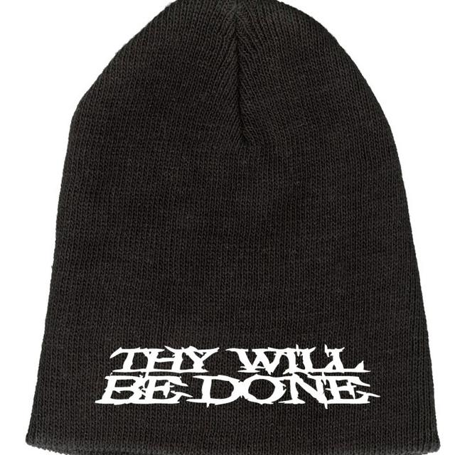 Thy Will Be Done Embroidered Logo Beanie