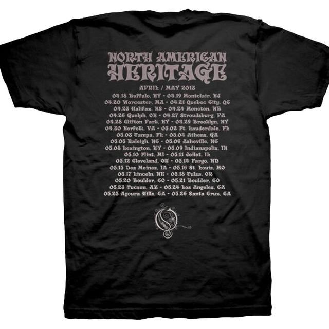 Opeth American Heritage Tour Date Tee