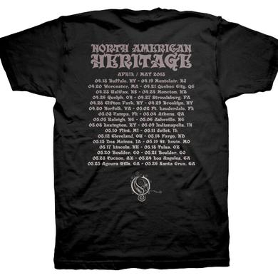 Opeth American Heritage Tour Date Tee