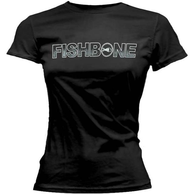 Fishbone White Logo Ladies Tee