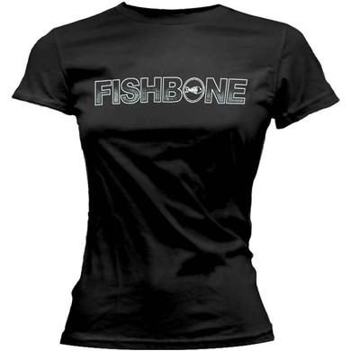 Fishbone White Logo Ladies Tee