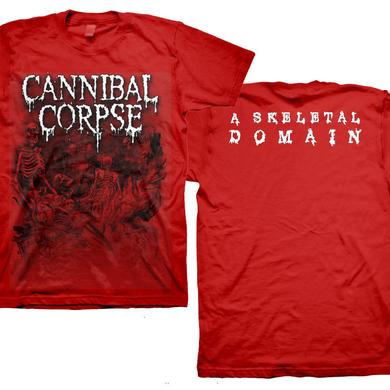 Cannibal Corpse Skeletons - Skeletal Domain Red T-Shirt